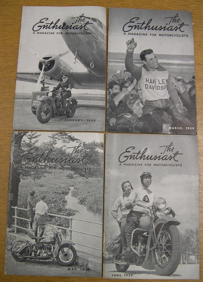8 Issues The Enthusiast Magazine for Motorcyclists 1939 - 2