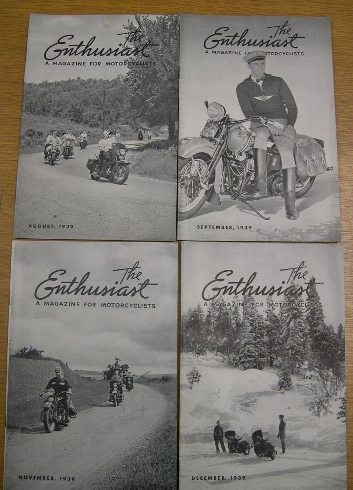 8 Issues The Enthusiast Magazine for Motorcyclists 1939 - 3