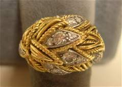 Van Cleef & Arpels Lady's Gold And Diamond Ring
