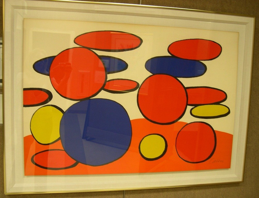 Alexander Calder Color Lithograph Cercles Ltd. Edition