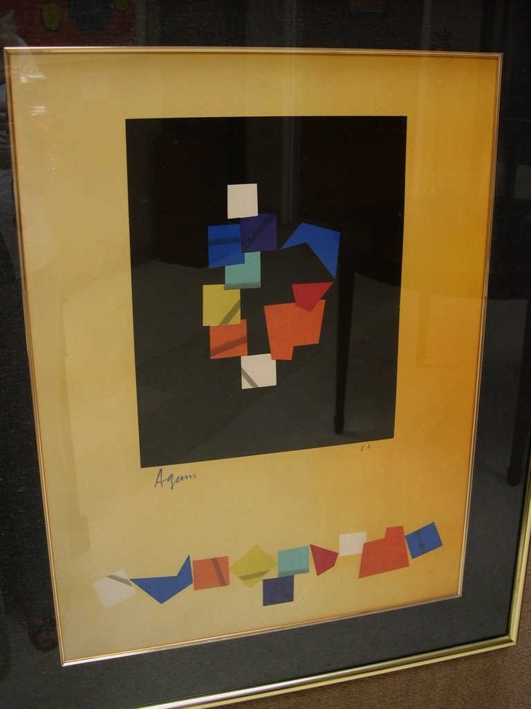 Yaacov Agam Lithograph Abstract Ltd. Edition