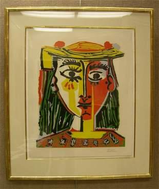 Pablo Picasso Linoleum Cut #16/50 Bust de Femme...
