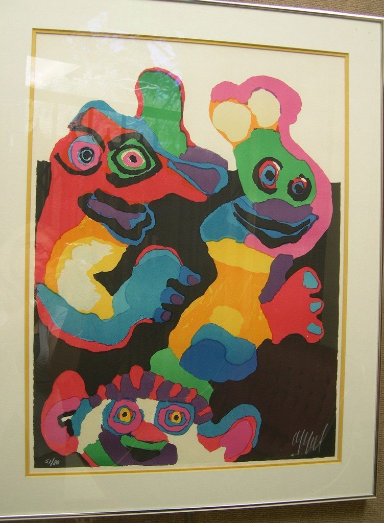 Karel Appel  Lithograph #51/80 Laughing People