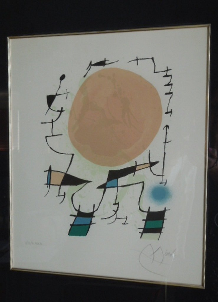 Joan Miro Color Lithograph #VII/LXXX Soleil Rouge