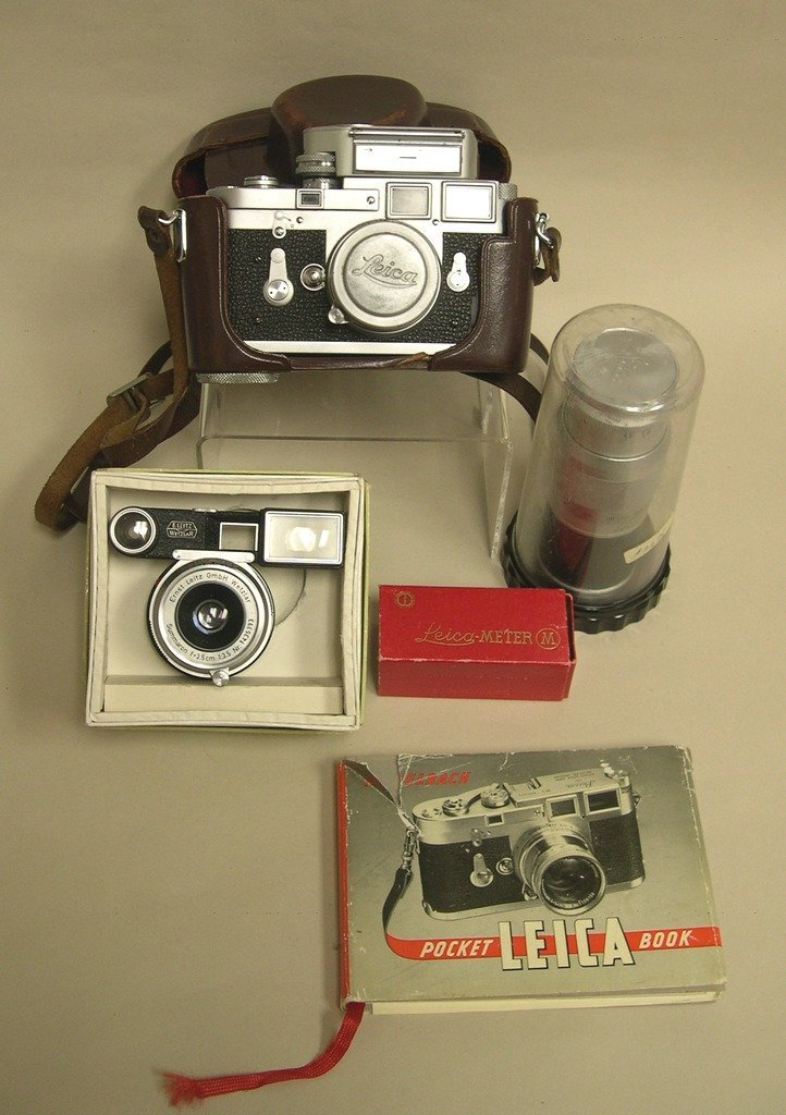 Leica M3 Camera, Summicron Lenses, Meter & Pocket Book