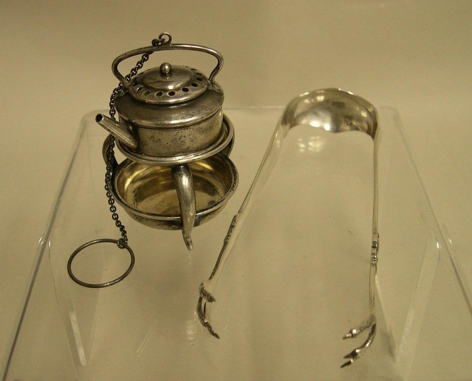 Fessenden Sterling Tea Infuser & Frigast Sugar Nips