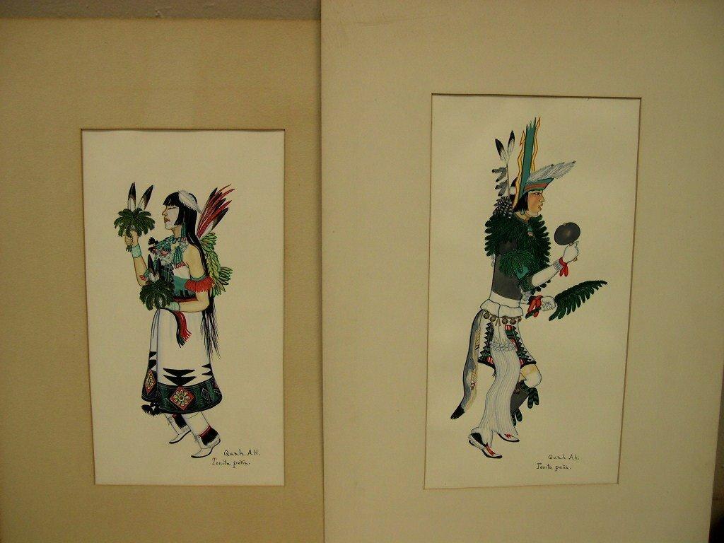 2 Tonita Pena Quah Ah, Watercolor on Paper, Signed