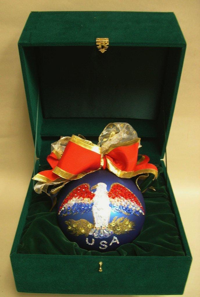 "Natalie Sarabella Custom Christmas Ornament ""USA 2001"""