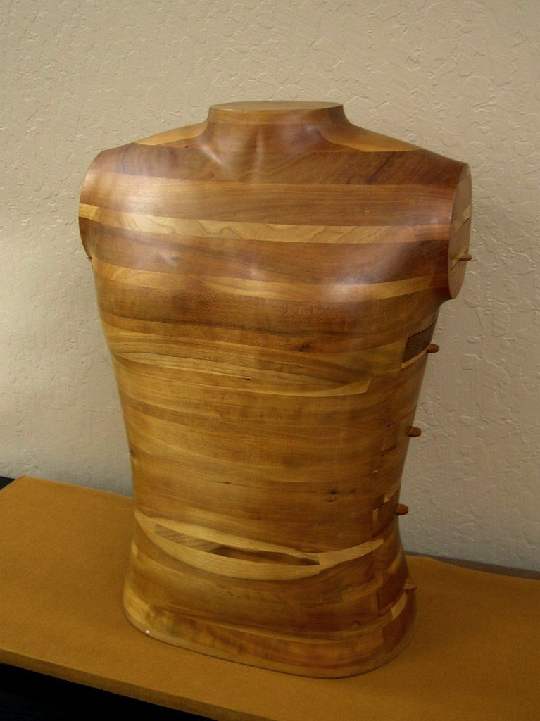 Gene Sherer Wood Sculpture Jewelry Chest 1985 #24