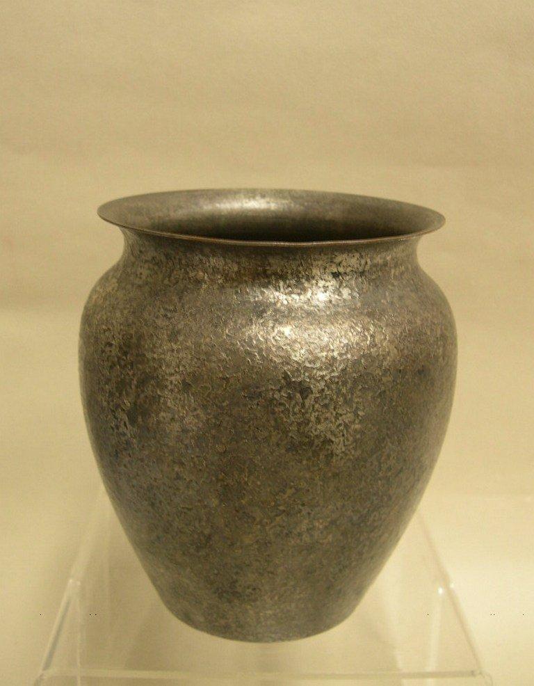Roycroft Vase Silver Acid Etched Finish