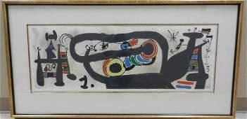 Joan Miro Color Litho #83/100 Le Lezard aux Plumes d'Or