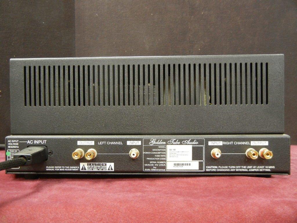 Golden Tube Audio SE-40 Stereo Power Amplifier - 4