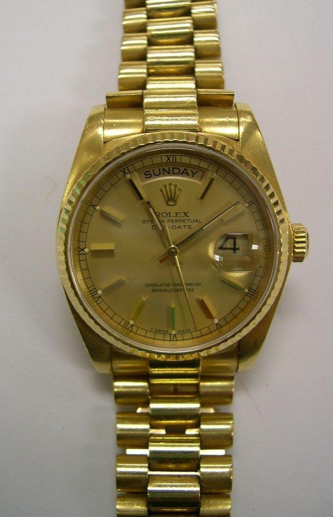 Men's Gold Rolex Wristwatch