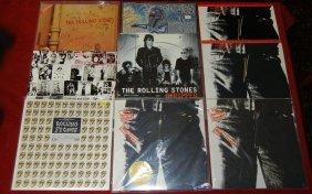 Nine (9) Rolling Stones LPs