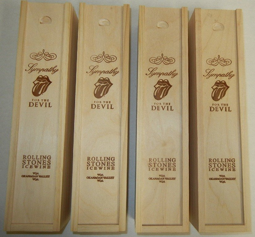 Four (4) bottles Rolling Stones Ice Wine - 2