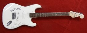 Autographed Fender Squire Strat electric Guitar