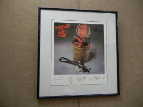 """Rolling Stones Limited Edition """"Sticky Fingers"""" Litho"""