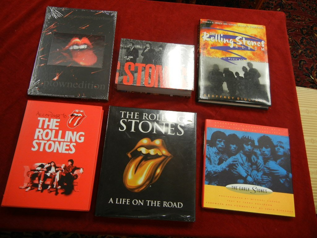 (6) Rolling Stones Related Books