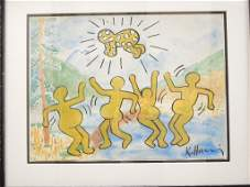 Keith Haring Radiant Baby Watercolor