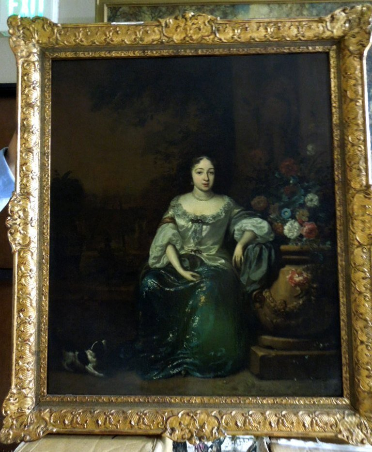 Jan Weenix Oil Painting.  Portrait of a seated