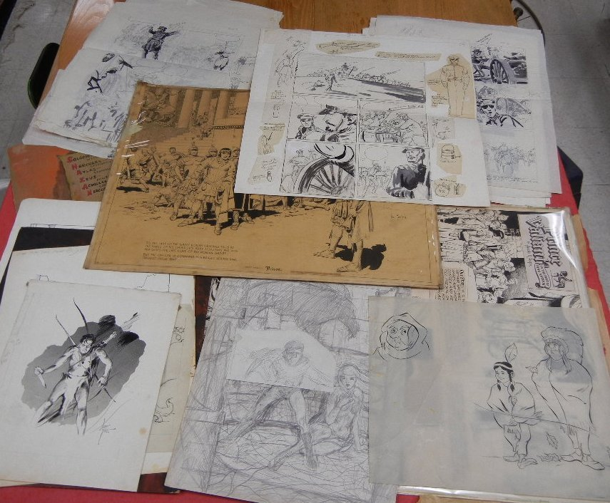 Collection of Original comic book art, including Hal