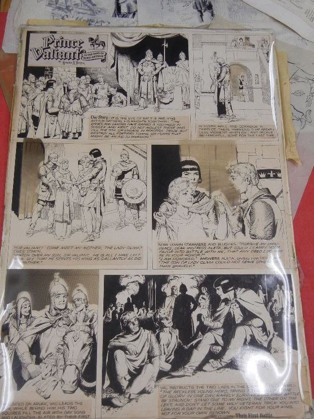 Collection of Original comic book art, including Hal - 4