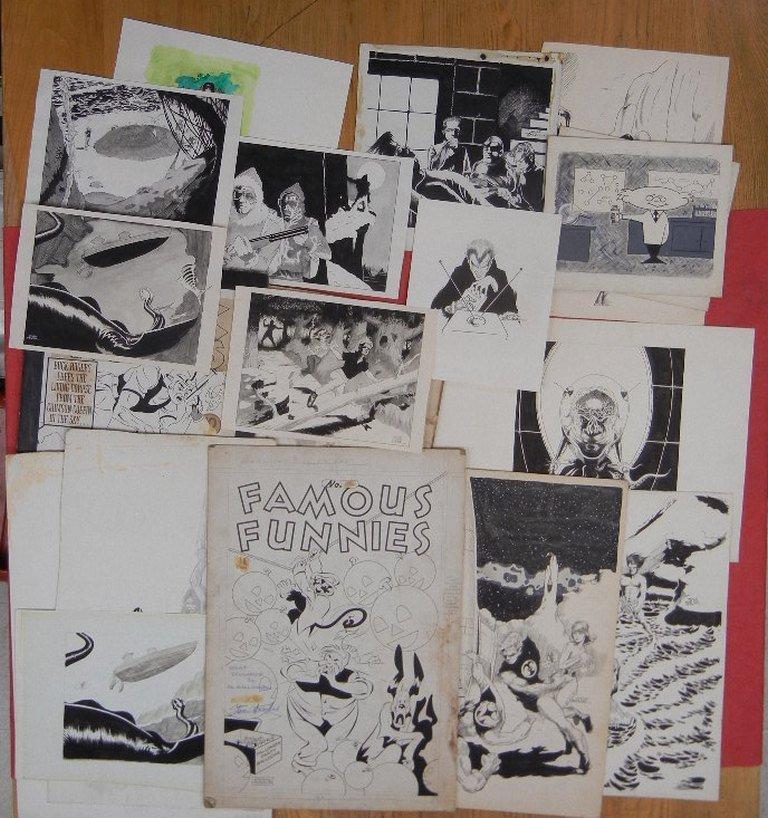 Collection of Original comic book art, including