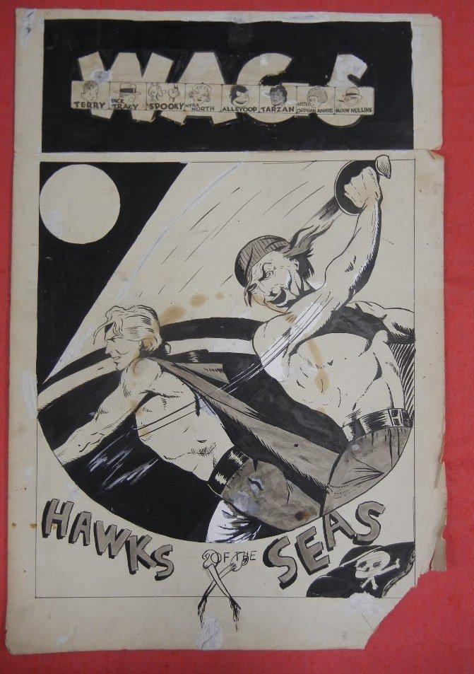 Collection of Original comic book art, including - 4