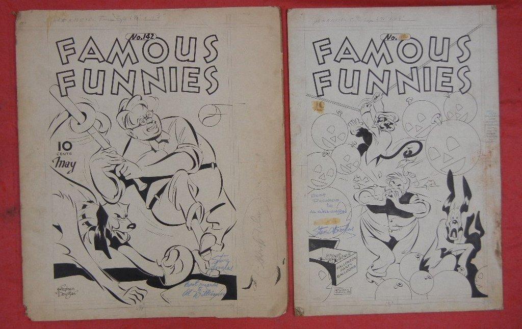 Collection of Original comic book art, including - 5