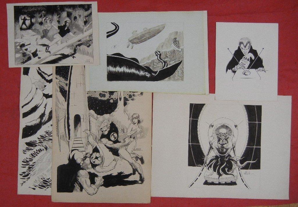 Collection of Original comic book art, including - 6