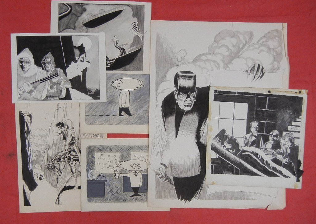 Collection of Original comic book art, including - 7