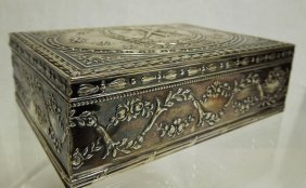 German 800 Silver Repousse  Box