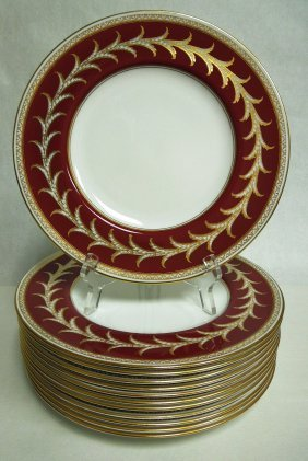 Set of 12 Royal Worcester English Bone China Dinner