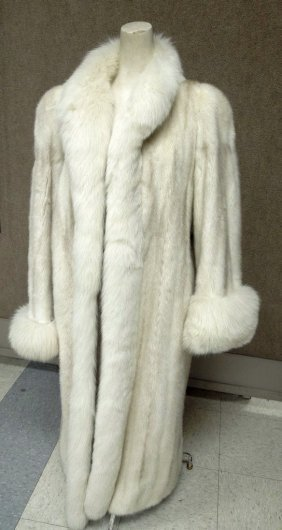 Christian Dior Fourrure White Mink Coat