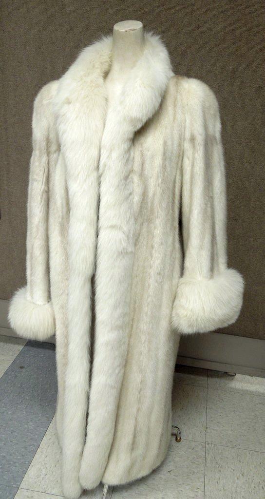 Christian Dior Fourrure White Mink Coat