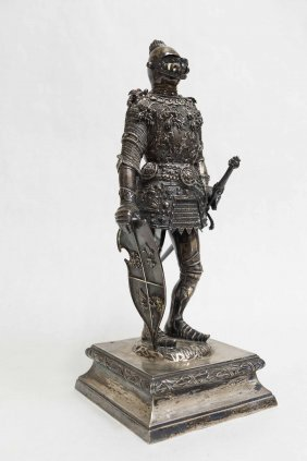 German 800 Silver Knight Figure