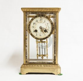 Tiffany & Co. Bejeweled Carriage Style Mantel Clock