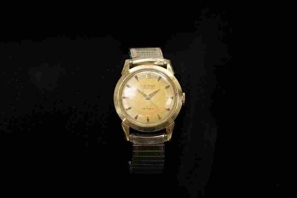 Gent's Movado 14k Gold Case Wristwatch.