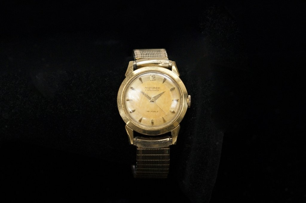Gent's Movado 14k Gold Case Wristwatch.