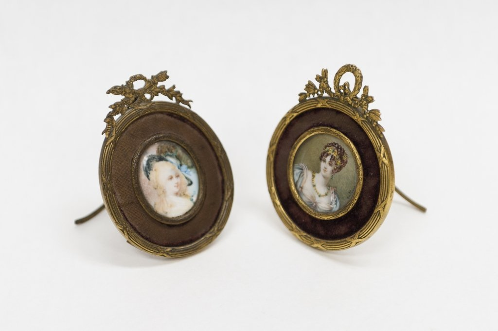 (2) French Miniature Portraits.