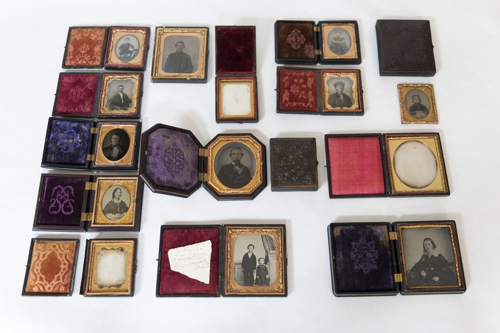 Group of (16) 19th C. Daguerreotypes and Others.