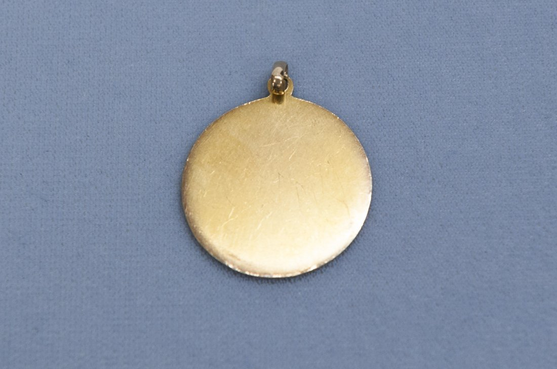 Yellow Gold Mayan Calendar Pendant. - 2