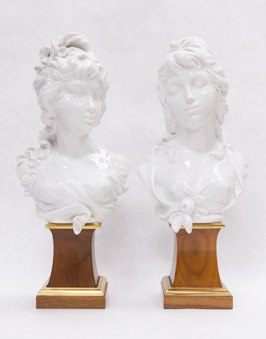 Pair of Royal Worcester Porcelain Busts.