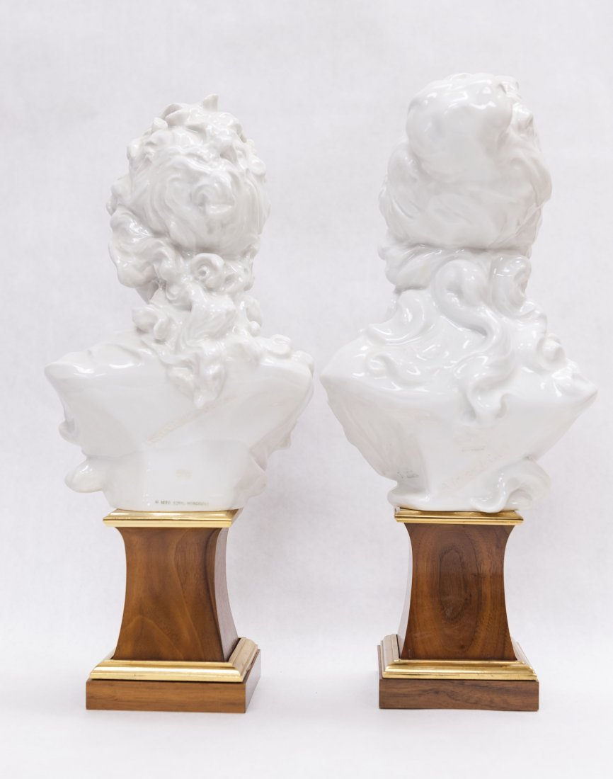 Pair of Royal Worcester Porcelain Busts. - 4