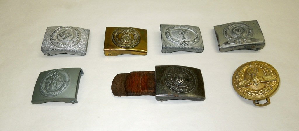 Seven (7) World War II German Belt Buckles