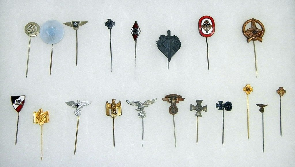 Extensive collection of German WW2 uniform pins
