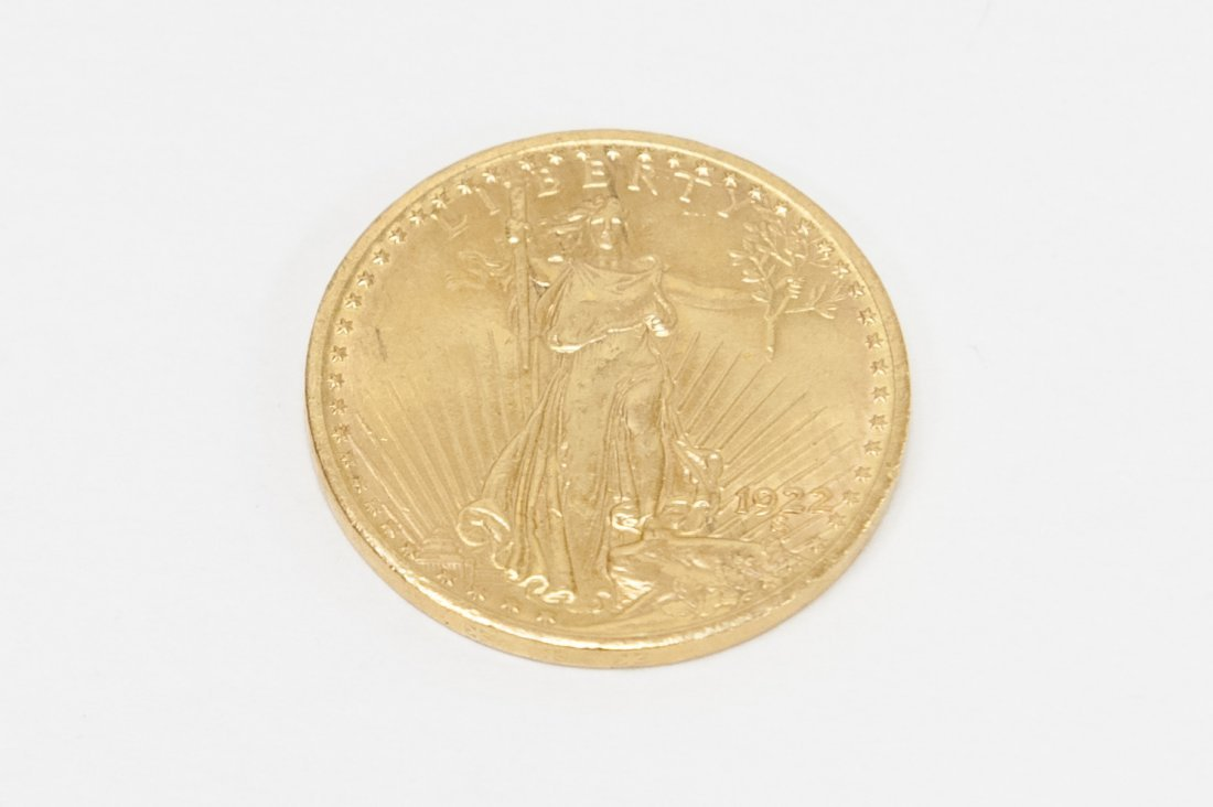 1922 St. Guadens $20 Gold Coin.