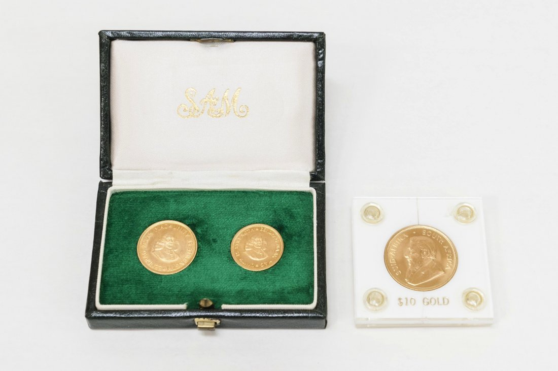 (3) South Africa Gold Coins.