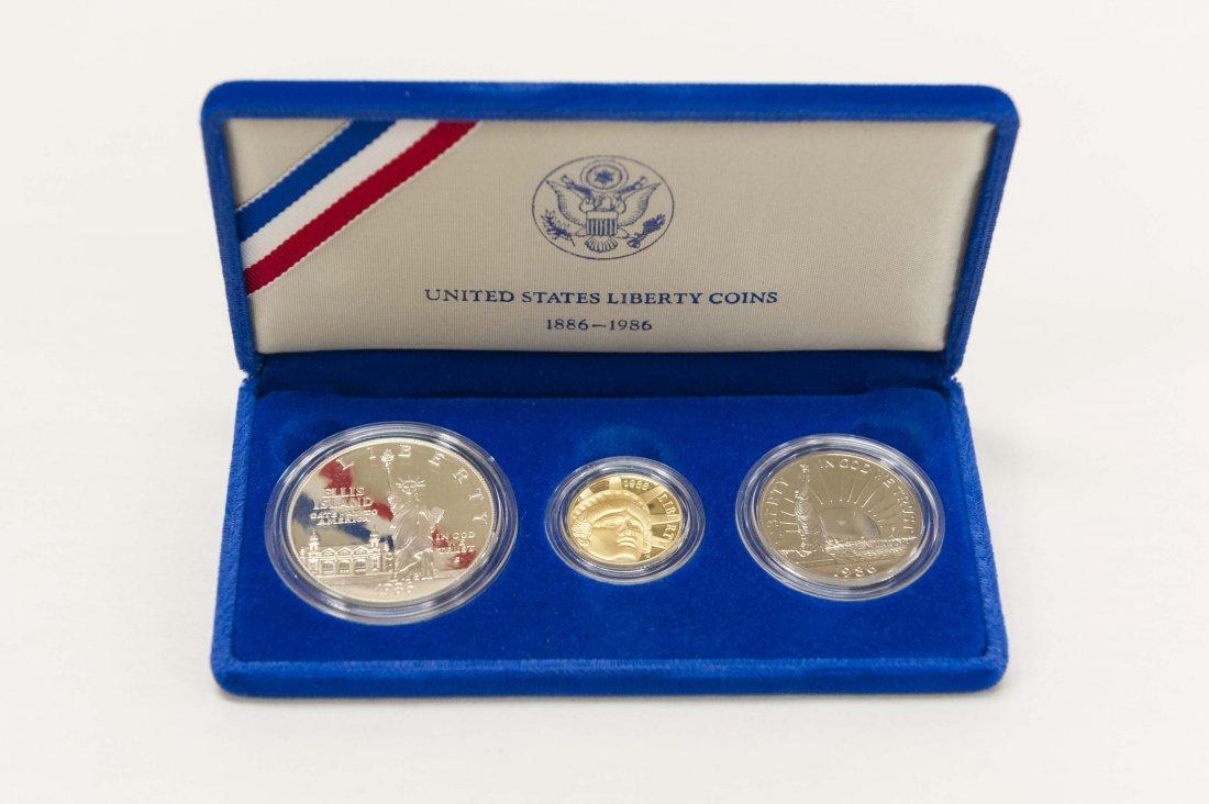 1986 Libery 3-Coin Set.