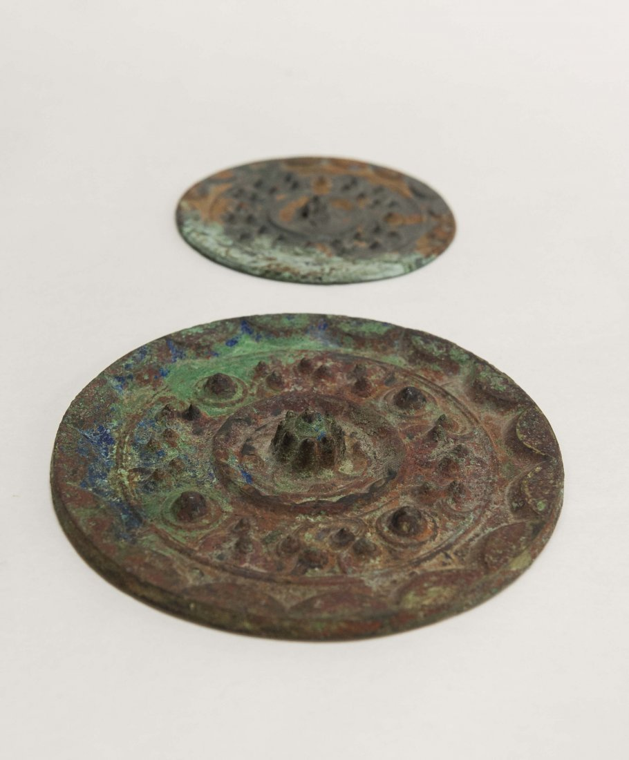 Two (2) Chinese Bronze Mirrors